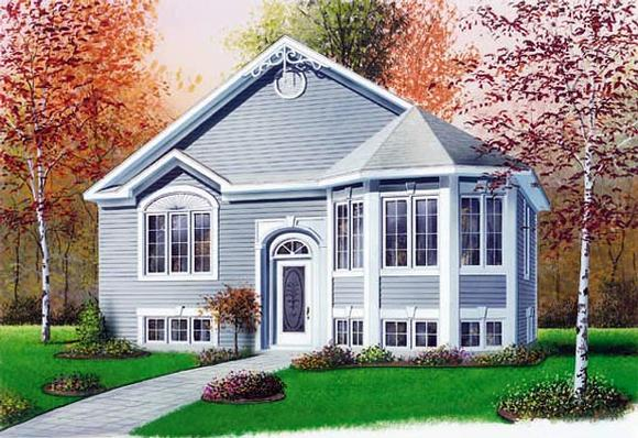 Victorian House Plan 65264 with 2 Beds, 1 Baths Elevation