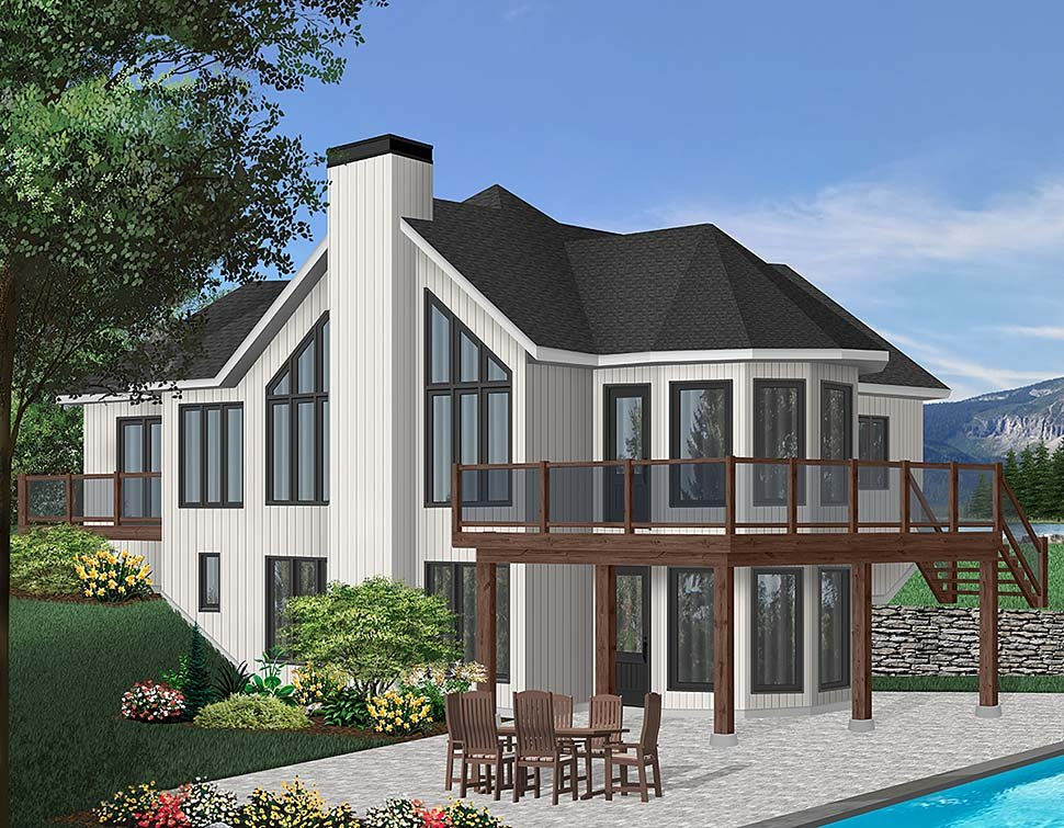 Contemporary, Craftsman House Plan 65283 with 2 Beds, 2 Baths Elevation