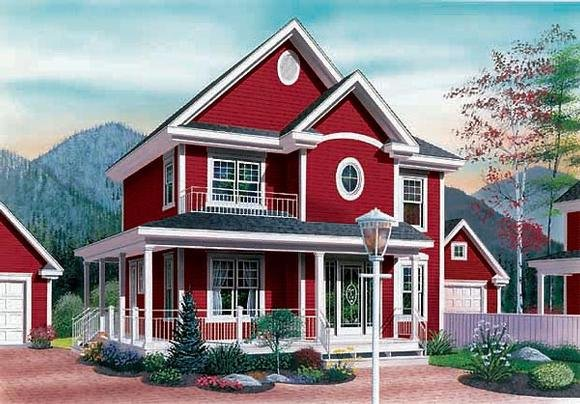 Country House Plan 65295 with 3 Beds, 2 Baths Elevation