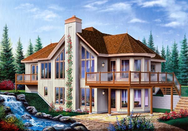 Bungalow, Contemporary, Craftsman House Plan 65390 with 3 Beds, 3 Baths, 1 Car Garage Elevation