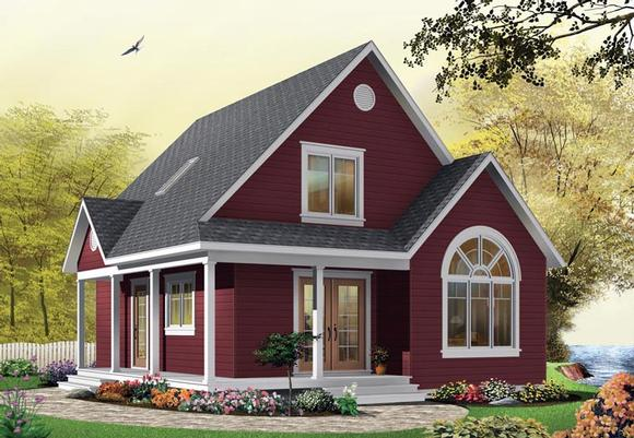 Country House Plan 65394 with 2 Beds, 2 Baths Elevation