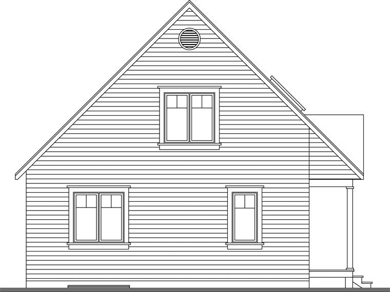 Country House Plan 65394 with 2 Beds, 2 Baths Rear Elevation