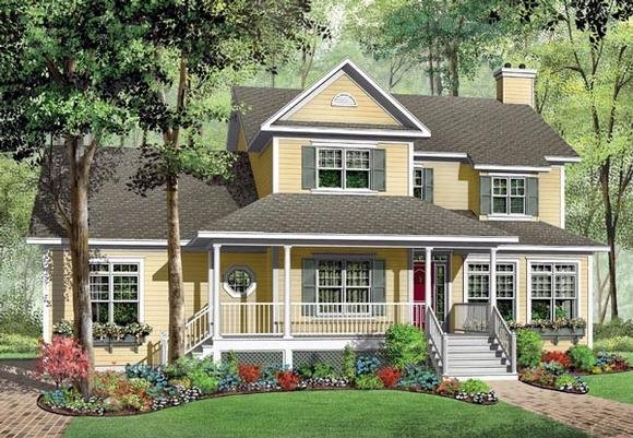 Farmhouse House Plan 65473 with 3 Beds, 3 Baths, 3 Car Garage Elevation