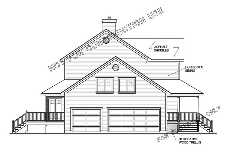 Farmhouse House Plan 65473 with 3 Beds, 3 Baths, 3 Car Garage Picture 1