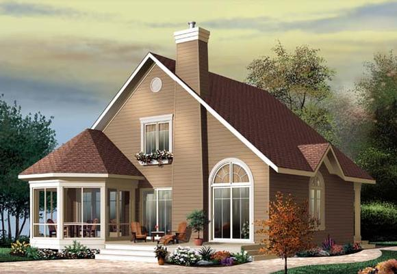 Country, Craftsman House Plan 65518 with 3 Beds, 2 Baths Elevation