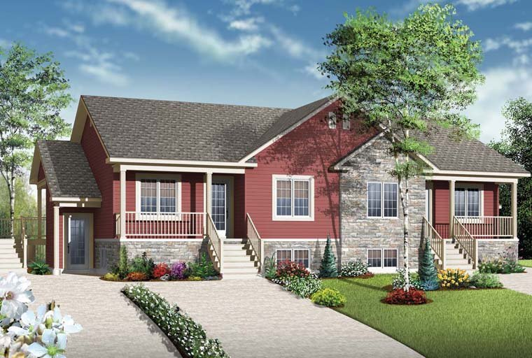 Country Multi-Family Plan 65546 with 8 Beds, 4 Baths Elevation