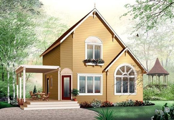 Traditional House Plan 65577 with 3 Beds, 2 Baths Elevation