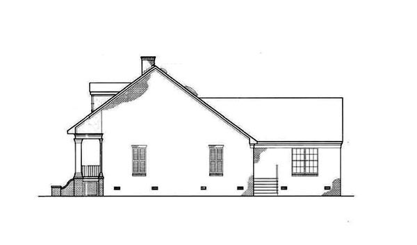 Colonial, Country, Southern House Plan 65622 with 3 Beds, 2 Baths, 2 Car Garage Picture 1
