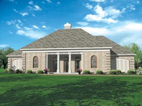 European, One-Story House Plan 65630 with 3 Beds, 2 Baths, 2 Car Garage Picture 1