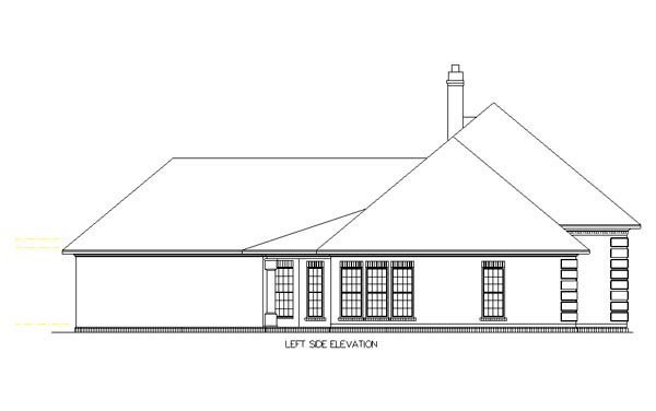 European, One-Story House Plan 65630 with 3 Beds, 2 Baths, 2 Car Garage Picture 2