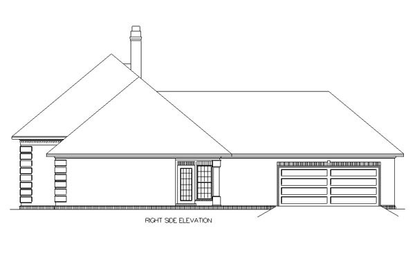 European, One-Story House Plan 65630 with 3 Beds, 2 Baths, 2 Car Garage Picture 3