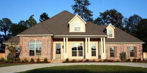 European, One-Story House Plan 65632 with 4 Beds, 4 Baths, 3 Car Garage Elevation