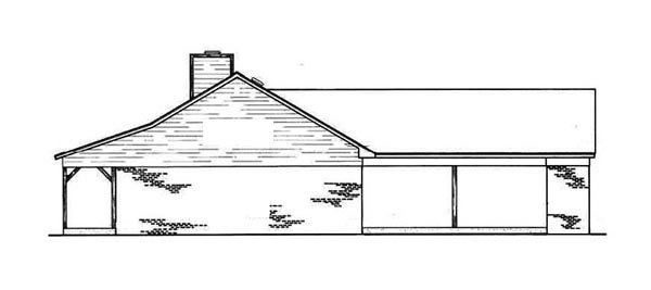Cabin, Ranch House Plan 65638 with 3 Beds, 2 Baths, 2 Car Garage Picture 2