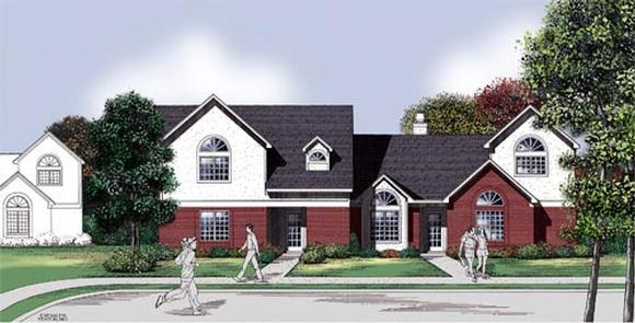 Multi-Family Plan 65704 with 6 Beds, 6 Baths, 6 Car Garage Elevation