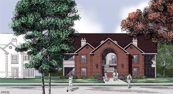 European Multi-Family Plan 65710 with 16 Beds, 16 Baths Elevation