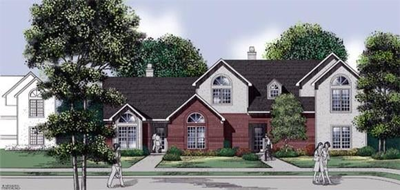 Traditional Multi-Family Plan 65712 with 5 Beds, 5 Baths Elevation