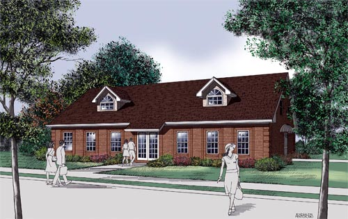 Traditional House Plan 65713 with 3 Beds, 2 Baths Elevation
