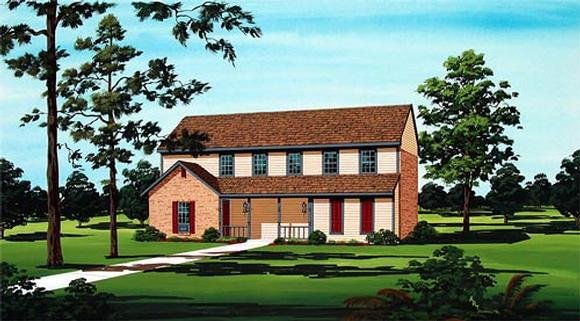 House Plan 65719 with 2 Beds, 2 Baths Elevation