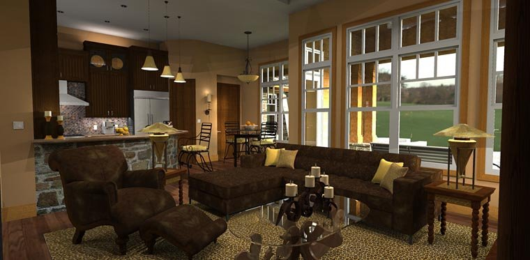 Cottage, Craftsman, Tuscan House Plan 65862 with 3 Beds, 3 Baths, 2 Car Garage Picture 15