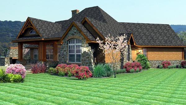 Cottage, Craftsman, Tuscan House Plan 65862 with 3 Beds, 3 Baths, 2 Car Garage Picture 3