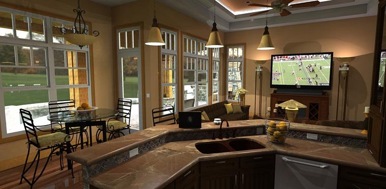Cottage, Craftsman, Tuscan House Plan 65862 with 3 Beds, 3 Baths, 2 Car Garage Picture 8