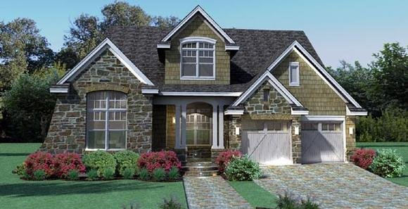 Cottage, Craftsman, Southern, Traditional, Tuscan House Plan 65868 with 3 Beds, 3 Baths, 2 Car Garage Elevation