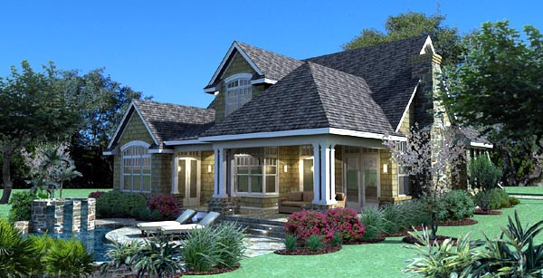 Cottage, Craftsman, Southern, Traditional, Tuscan House Plan 65868 with 3 Beds, 3 Baths, 2 Car Garage Picture 1