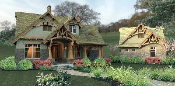 Bungalow, Cottage, Craftsman, Tuscan House Plan 65870 with 3 Beds, 2 Baths, 2 Car Garage Picture 9