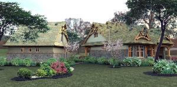 Bungalow, Cottage, Craftsman, Tuscan House Plan 65870 with 3 Beds, 2 Baths, 2 Car Garage Picture 10