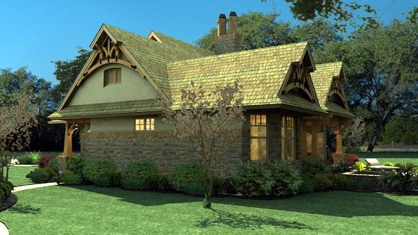 Bungalow, Cottage, Craftsman, Tuscan House Plan 65870 with 3 Beds, 2 Baths, 2 Car Garage Picture 5