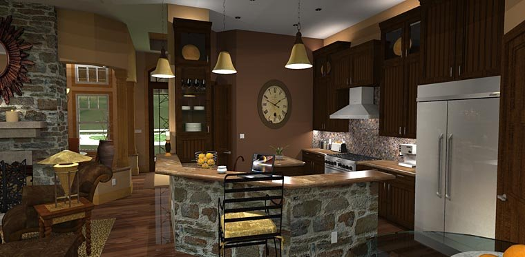 Craftsman, Tuscan House Plan 65871 with 3 Beds, 3 Baths, 2 Car Garage Picture 10