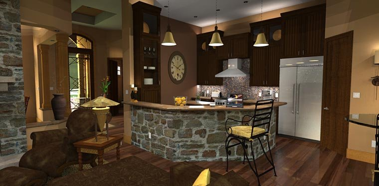 Craftsman, Tuscan House Plan 65871 with 3 Beds, 3 Baths, 2 Car Garage Picture 12