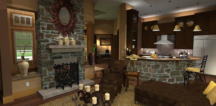 Craftsman, Tuscan House Plan 65871 with 3 Beds, 3 Baths, 2 Car Garage Picture 13