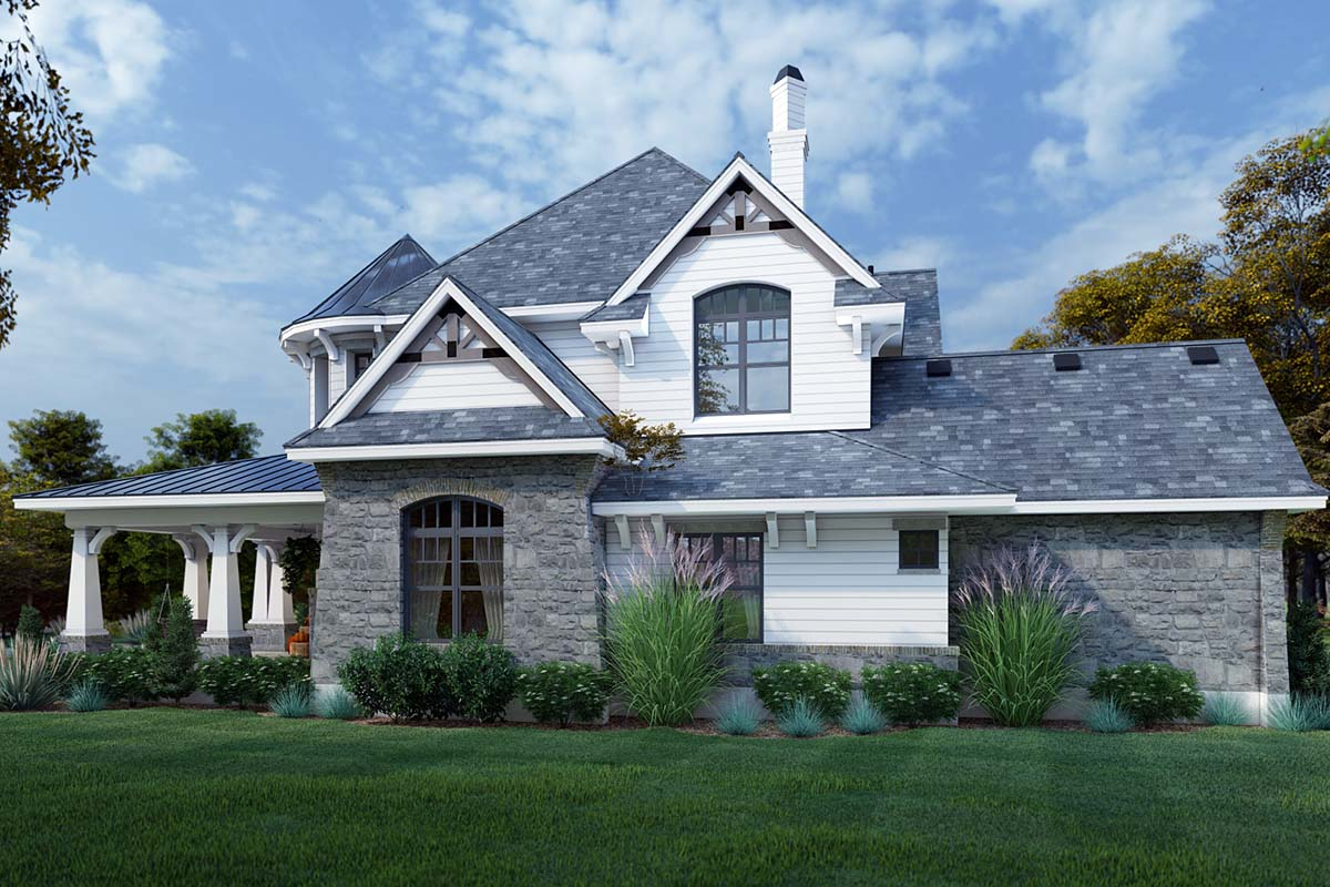 Cottage, Craftsman, European, Tuscan House Plan 65872 with 4 Beds, 4 Baths, 3 Car Garage Picture 1
