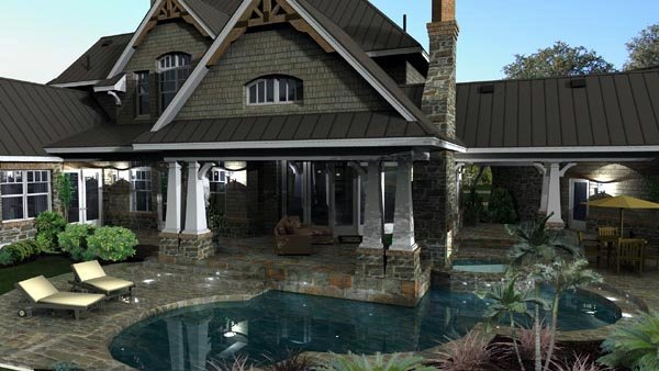 Cottage, Craftsman, European, Tuscan House Plan 65872 with 4 Beds, 4 Baths, 3 Car Garage Picture 12