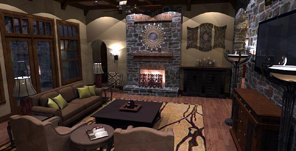 Cottage, Craftsman, European, Tuscan House Plan 65872 with 4 Beds, 4 Baths, 3 Car Garage Picture 13