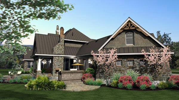 Cottage, Craftsman, European, Tuscan House Plan 65872 with 4 Beds, 4 Baths, 3 Car Garage Picture 16