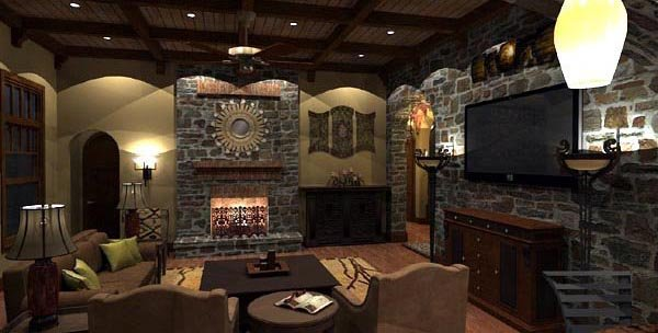 Cottage, Craftsman, European, Tuscan House Plan 65872 with 4 Beds, 4 Baths, 3 Car Garage Picture 26