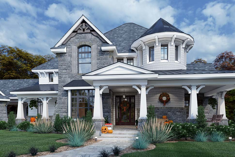 Cottage, Craftsman, European, Tuscan House Plan 65872 with 4 Beds, 4 Baths, 3 Car Garage Picture 3