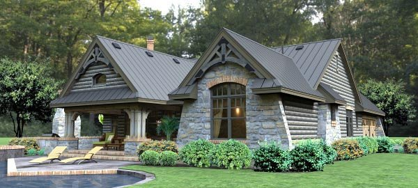Cottage, Country, Tuscan House Plan 65874 with 3 Beds, 3 Baths, 2 Car Garage Picture 3