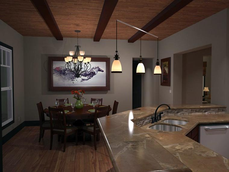 Bungalow, Cottage, Country, Tuscan House Plan 65875 with 3 Beds, 3 Baths, 2 Car Garage Picture 10
