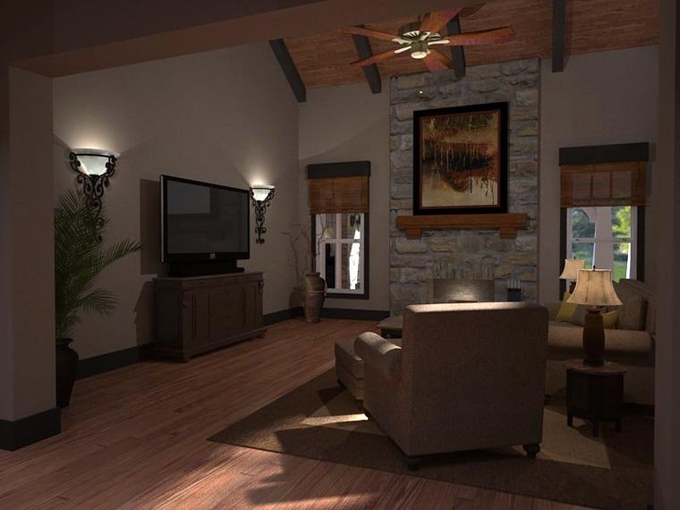 Bungalow, Cottage, Country, Tuscan House Plan 65875 with 3 Beds, 3 Baths, 2 Car Garage Picture 12