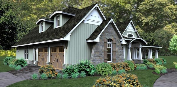 Bungalow, Cottage, Country, Tuscan House Plan 65875 with 3 Beds, 3 Baths, 2 Car Garage Picture 7