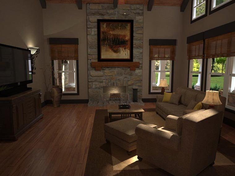 Bungalow, Cottage, Country, Tuscan House Plan 65875 with 3 Beds, 3 Baths, 2 Car Garage Picture 9