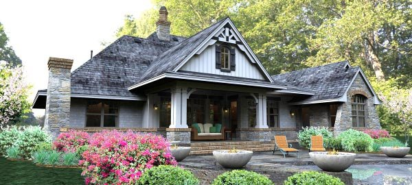 Cottage, Country, Craftsman, Traditional, Tuscan House Plan 65877 with 3 Beds, 3 Baths, 3 Car Garage Picture 4