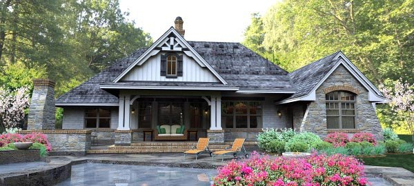 Cottage, Country, Craftsman, Traditional, Tuscan House Plan 65877 with 3 Beds, 3 Baths, 3 Car Garage Picture 5