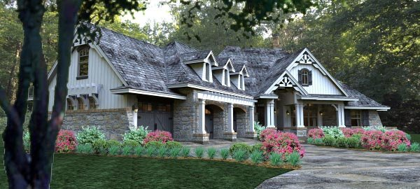 Cottage, Country, Craftsman, Traditional, Tuscan House Plan 65877 with 3 Beds, 3 Baths, 3 Car Garage Picture 9