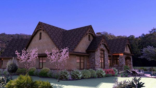 Craftsman, Tuscan House Plan 65888 with 3 Beds, 3 Baths, 2 Car Garage Picture 6