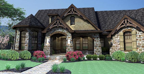 Craftsman, Tuscan House Plan 65888 with 3 Beds, 3 Baths, 2 Car Garage Picture 8