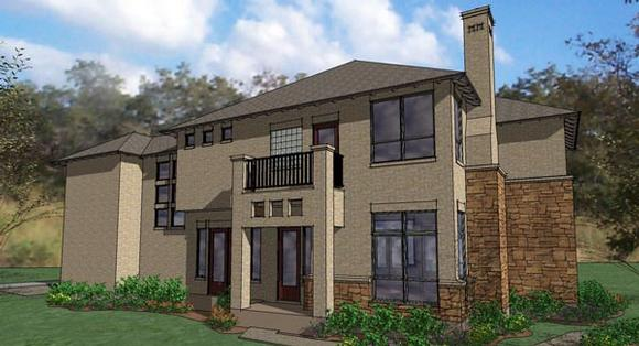 Contemporary, Craftsman, Florida Multi-Family Plan 65895 with 3 Beds, 3 Baths, 2 Car Garage Elevation